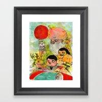 Chinese Pine Trees Framed Art Print