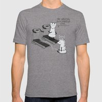 Walking In A Straight Li… Mens Fitted Tee Tri-Grey SMALL