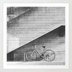 Bike and lines Art Print