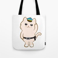 Animal Police - Cream cat Tote Bag