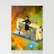 Barbara's Spaceship Stationery Cards