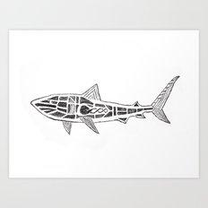 Shark Twist Art Print