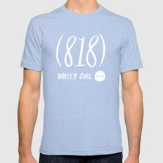 Valley Girl Mens Fitted Tee Tri-Blue SMALL
