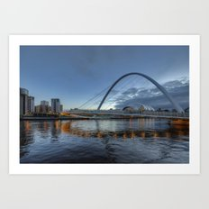 Millenium Bridge Newcastle Art Print
