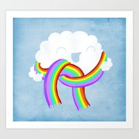 Mr clouds new scarf Art Print