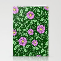 Forest Green Floral Stationery Cards