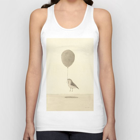 bird with a balloon Unisex Tank Top