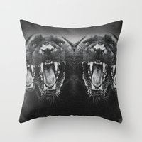 Panther Power Throw Pillow