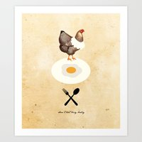 Don't Eat My Baby. Art Print