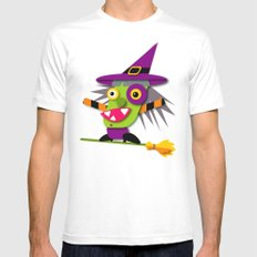 Halloween Witch White Mens Fitted Tee SMALL