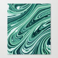 Green and while marble pattern Canvas Print
