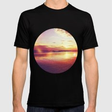 Tropical Sunset Mens Fitted Tee Black SMALL