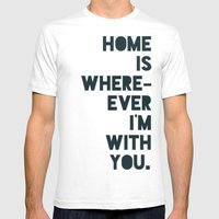 Home Is With You Mens Fitted Tee White SMALL