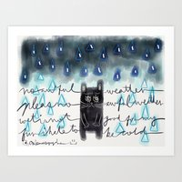 Rain-Not-Friendly Art Print