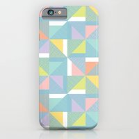 pinwheels - blue iPhone 6 Slim Case