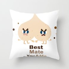 Best mate -you and me Throw Pillow