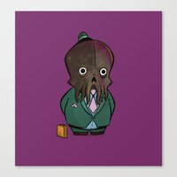 Business Cthulhu Canvas Print