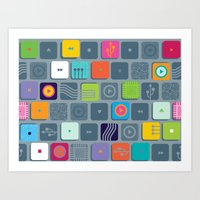 Tec Tile Art Print