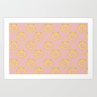 Bovi-doughnut Pattern Art Print