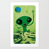 greeny boy Art Print