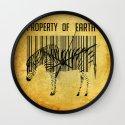 The encoded zebra Wall Clock