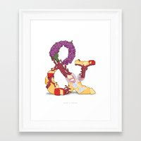 Wine & Cheese Framed Art Print