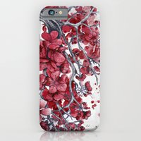 cherry blossom iPhone & iPod Cases featuring Cherry blossom by Marine Loup