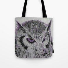 Violet Owl Tote Bag