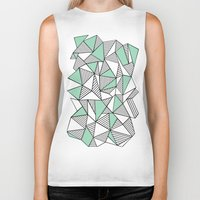 Abstraction Lines With M… Biker Tank