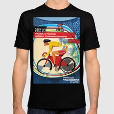 UCI Melbourne World Cycling Championships Poster with Text Black SMALL Mens Fitted Tee