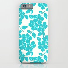 Hibiscus Floral: Turquoise Slim Case iPhone 6s