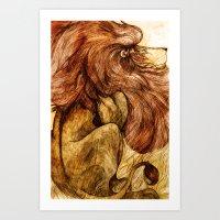 Une Crinière de Lion (the haughty and brilliant lion) Art Print