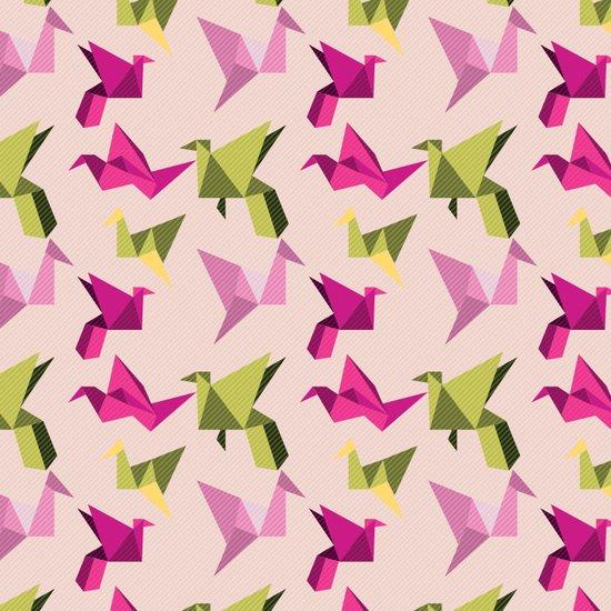 pink paper cranes Canvas Print
