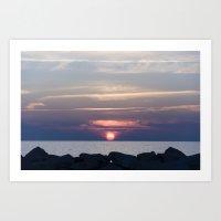 The Sunset Art Print