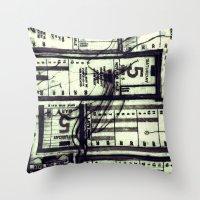 Muni Breaks Mixed Media … Throw Pillow