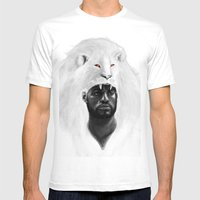 THE LION KING Mens Fitted Tee White SMALL