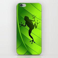 Frog Shape on Green Leaf iPhone & iPod Skin