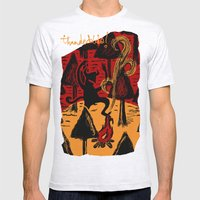 the dancing monster in the woods Mens Fitted Tee Ash Grey SMALL