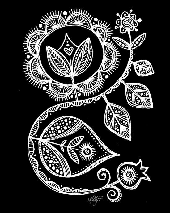 White Flower 15 Art Print