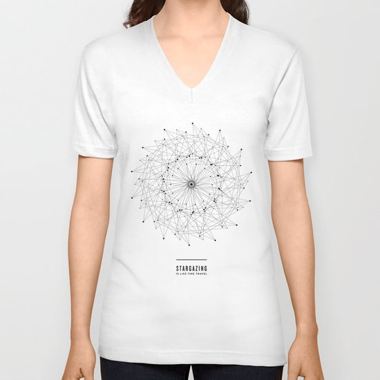 STARGAZING IS LIKE TIME TRAVEL V-neck T-shirt
