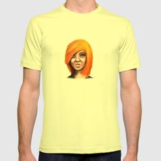 Blonde Mens Fitted Tee Lemon SMALL