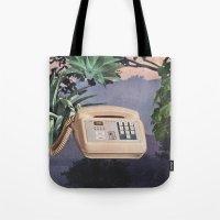Late Nite Phone Talks Tote Bag