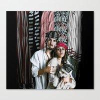 pirate portrait Canvas Print