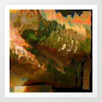 06-04-18 (Mountain Glitc… Art Print