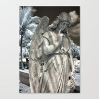 Infrared Cry One Eye  Canvas Print