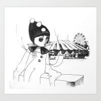 Pierrot The Clown Art Print