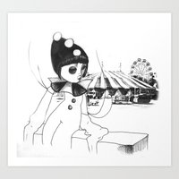 Pierrot the clown Art Print