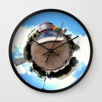 Around Tel Aviv Stereographic Panorama of Dizengoff Center Wall Clock