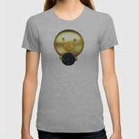 Tea jar smile. Womens Fitted Tee Athletic Grey SMALL