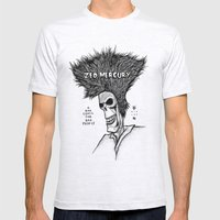 Zed Mercury Cramps tribute Mens Fitted Tee Ash Grey SMALL